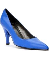 Billie Tango Bella Nappa - Chaussures femme en cuir bout pointu a talon rétractable - bleu