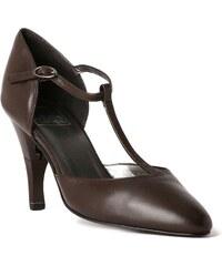 Billie Tango Lady Nappa - Chaussures femme salomé en cuir a talon retractable - Marron chocolat