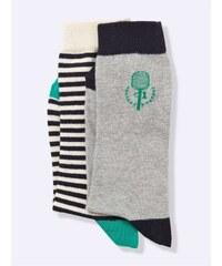 Cyrillus Lot de 2 chaussettes - menthe