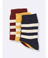 Cyrillus Lot de 3 chaussettes - bordeaux