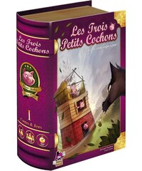 Iello Les 3 Petits Cochons - Boîte-livre - multicolore