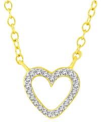 Carashop Collier en argent orné de diamants - jaune