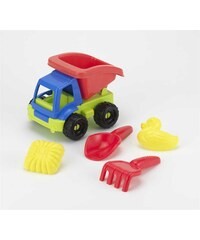 Ecoiffier Camion-benne garni - multicolore