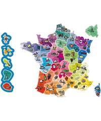 Jeujura Carte de France magnétique - multicolore