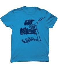 Monsieur Poulet Eat Music - T-shirt - bleu