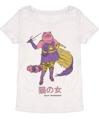 Monsieur Poulet Cat Woman - T-shirt - blanc