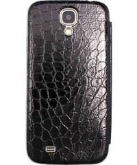 The Kase Coque arrière à clapet en cuir pour Samsung Galaxy S4 - noir