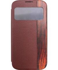 The Kase Coque arrière clapet pour Samsung Galaxy S4 - marron