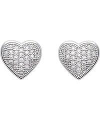 Tous mes bijoux Boucles d'oreilles en argent ornées de zircons - argent