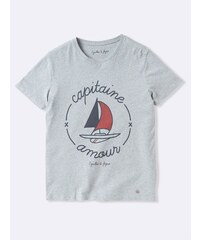 Cyrillus Capitaine - T-shirt - gris chine