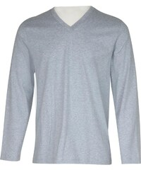 Eminence Iconique - T-shirt homme col V - gris chine