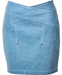 Mouvance Monica - Jupe en simili-cuir - bleu clair