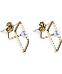 Fabien Ajzenberg Boucles d'oreilles en plaqué or avec perles - or