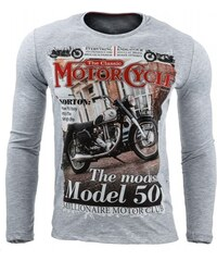 Pánské tričko Motor šedé - šedá