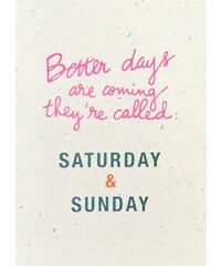 The Cool Company Better days are coming - Poster - corail