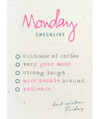 The Cool Company Monday checklist - Poster - corail