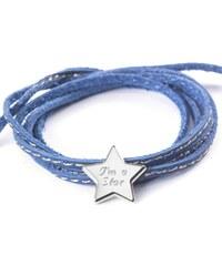 Petits Trésors Bracelet étoile en argent massif bleu