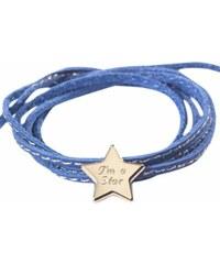 Petits Trésors Bracelet étoile en plaqué or bleu