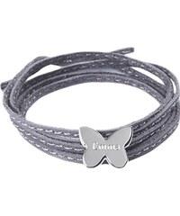Petits Trésors Bracelet papillon en argent massif noir