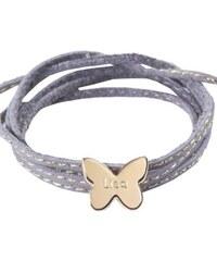 Petits Trésors Bracelet papillon en plaqué or bleu