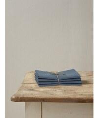 Cyrillus Lot de 4 serviettes de table en lin mélangée - beige