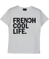 Frenchcool Life - T-shirt en coton col rond - blanc