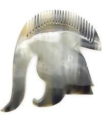 L'Artisan Créateur Peigne casque de légion romaine - corne foncée - multicolore