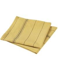 Blanc Cerise Lot de 2 serviettes de table en lin mélangée - safran