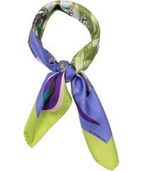 Inès de Parcevaux Manège - Carré en soie - violet