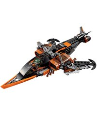 LEGO Le requin du ciel Ninjago - Avion amovible et transformable - bicolore