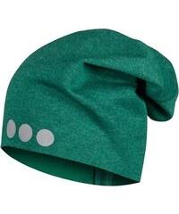 Lamama Dětská čepice s reflexním potiskem - tmavě zelená