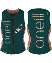 O'Neill Slasher Comp Vest W protection dpteal/ltgrpfrt