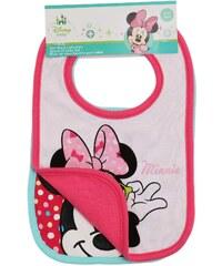 Disney Minnie 2 er Pack Lätzchen pink in Größe UNI für Mädchen aus 100% Baumwolle