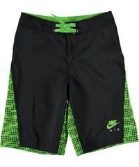 Nike All Over Print Board Shorts dětské Boys Black/Green
