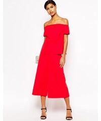 ASOS Premium - Jupe-culotte d'ensemble - Rouge