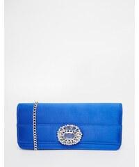 Carvela - Envelope-Clutch mit Ziersteinen - Blau