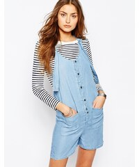 Noisy May - Tall - Chambray-Overall mit Taschen - Blau