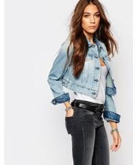 Replay - Veste courte ajustée en jean - Bleu