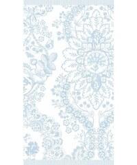 PIP STUDIO Badetuch Studio Lacy dutch mit Blüten blau 1xBadetuch 70x140 cm