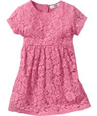 bpc bonprix collection Kleid mit Spitze, Gr. 80-134 kurzer Arm in rosa von bonprix