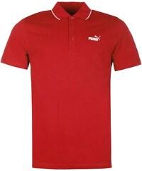 Polokošile Puma No 1 Logo Pique pán. červená/bílá
