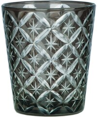 Blossom Skleněný svícen/sklenička Dark grey