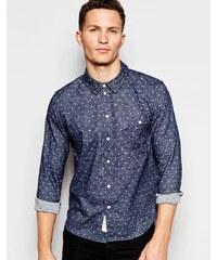 HUSH HUSH Puntíkovaná košile s dlouhými rukávy