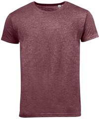 Pánské melírované tričko Mixed - Vínově červená S