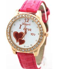 Lesara Armbanduhr I Love You - Pink