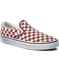 Turnschuhe VANS - Classic Slip-On VN0003Z4ICL (Checkerboard) Rhubarb/White