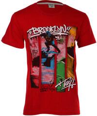 TopMode Krásné pánské tričko s potiskem červená