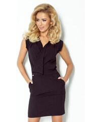S-a-F Dámské šaty moderní značkové NUMOCO DECOLLETE 944 SHIM.cz v zajímavém střihu bez rukávu krátké černé