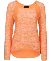BODYFLIRT Pull orange manches longues femme - bonprix