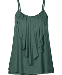 BODYFLIRT Top mit Volant in grün für Damen von bonprix